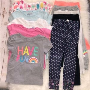 4T - 5T Little girls outfit bundle lot of 10 pcs